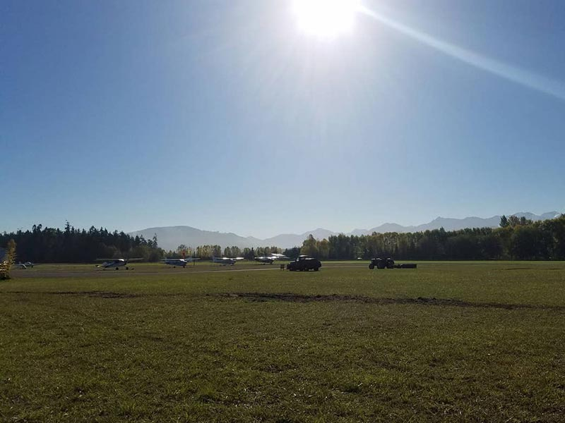 View from Rental Cabin at Sequim Valley Airport