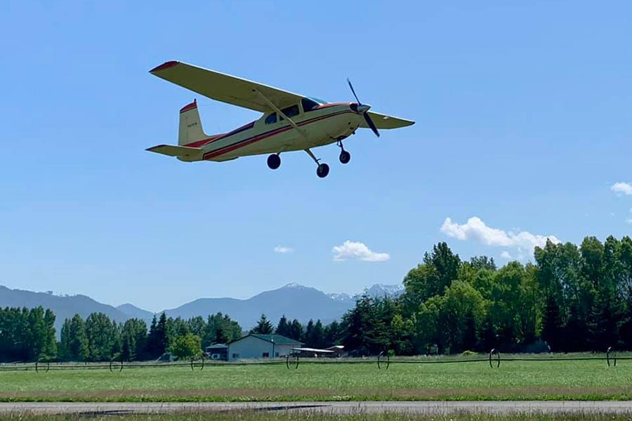 airplane at Sequim Airport