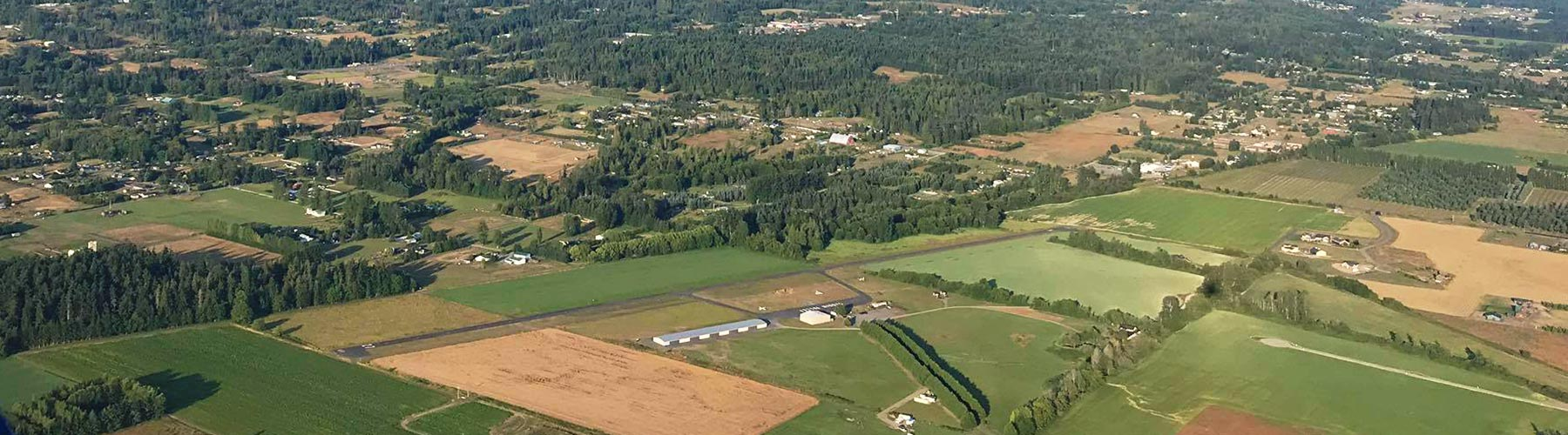 aerial of Sequim Valley Airport